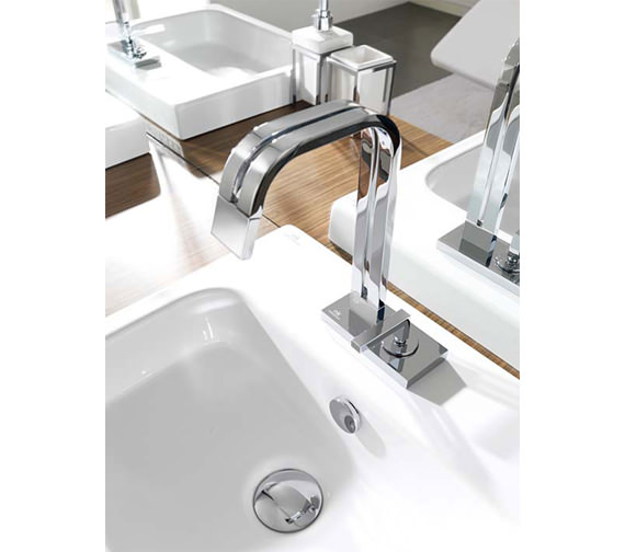 Additional image of Porcelanosa Noken Neox Single Lever Deck Mounted Basin Mixer Tap