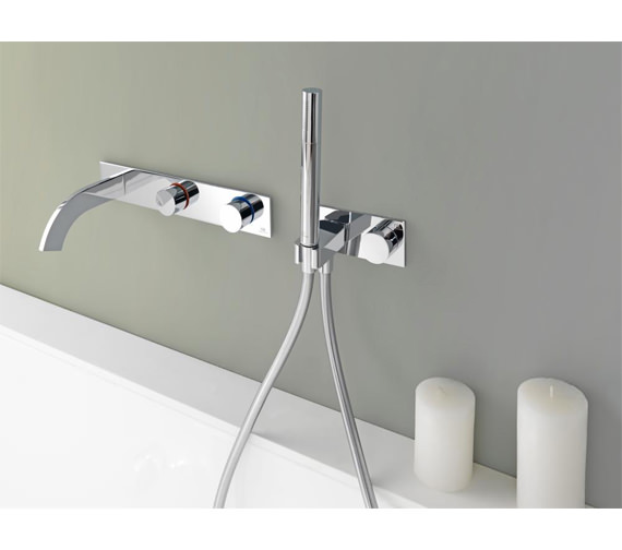 Porcelanosa Noken Giro Wall Mounted Concealed Bath Mixer Tap