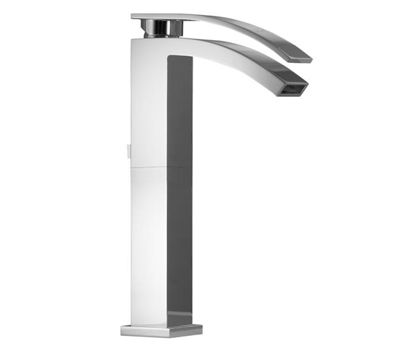 porcelanosa noken imagine high spout single lever basin mixer tap and waste
