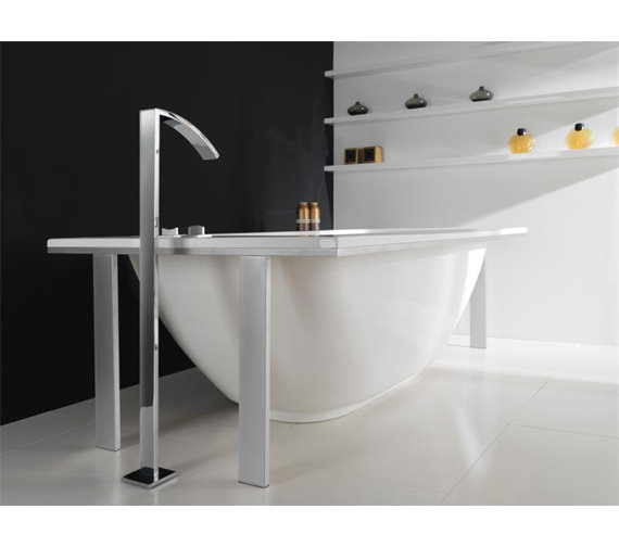 Additional image of Porcelanosa Noken Imagine Deck Mounted Valves With Bath Spout
