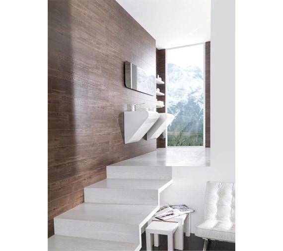 Additional image of Porcelanosa Noken Lounge Single Lever Chrome Basin Mixer Tap