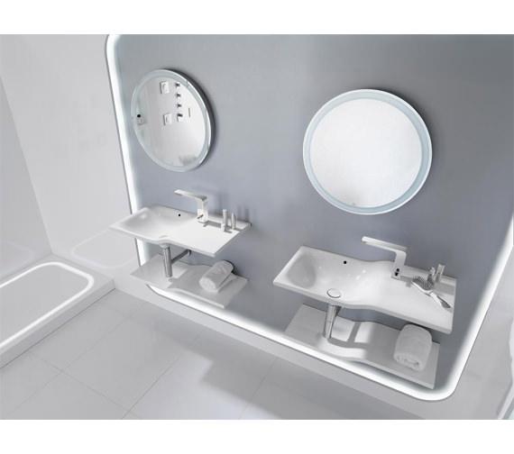 Alternate image of Porcelanosa Noken Lounge Single Lever Chrome Basin Mixer Tap