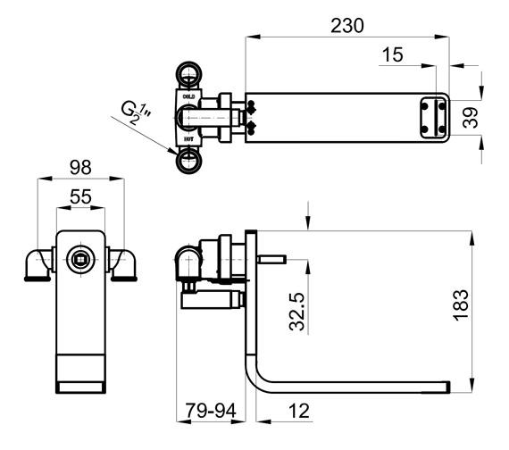 Technical drawing QS-V76715 / 100073039