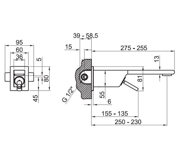 Technical drawing QS-V76732 / 100048042