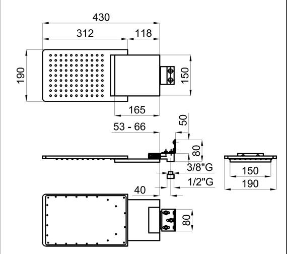 Technical drawing QS-V76739 / 100093586