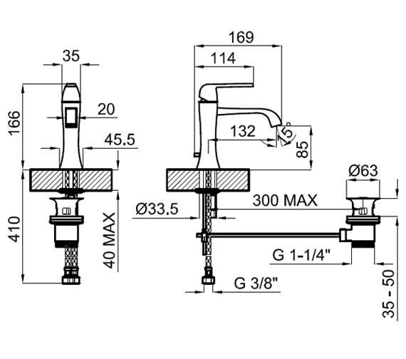 Technical drawing QS-V76742 / 100038900