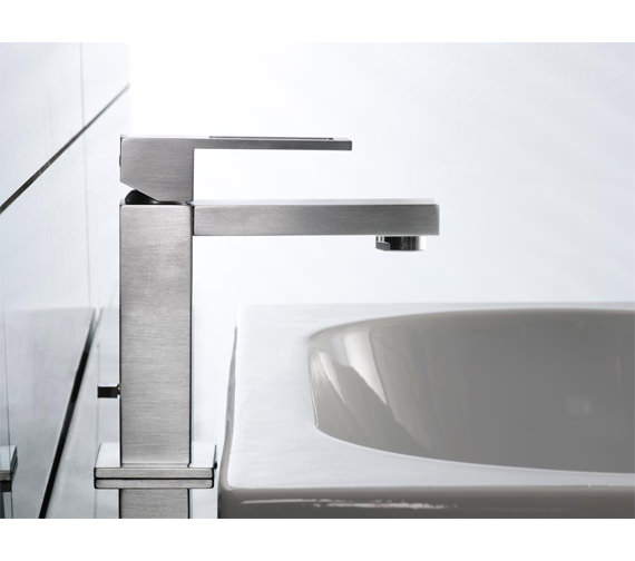 Porcelanosa Noken Irta Single Lever Finish Basin Mixer Tap Stainless Steel