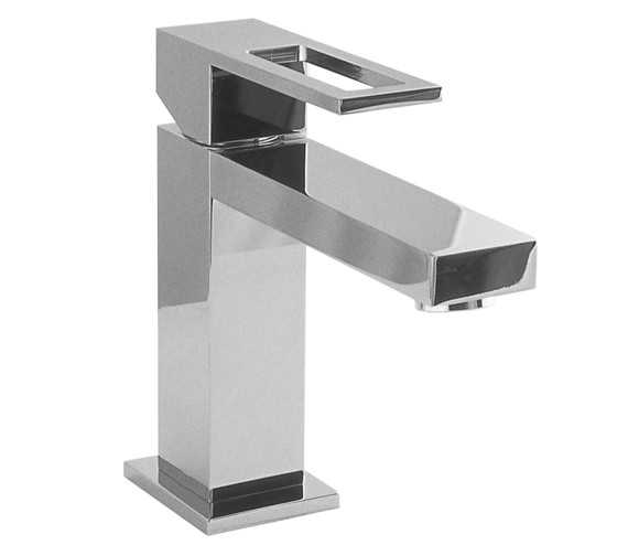 additional image of porcelanosa noken irta single lever stainless steel finish basin mixer tap
