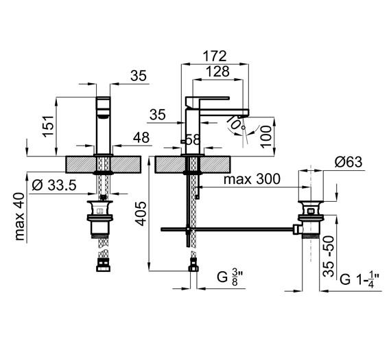 Technical drawing QS-V76788 / 100038696