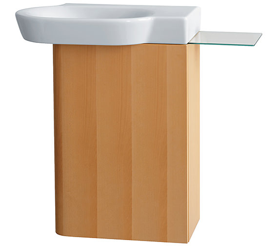 ideal standard tonic guest wall hung beech basin cabinet