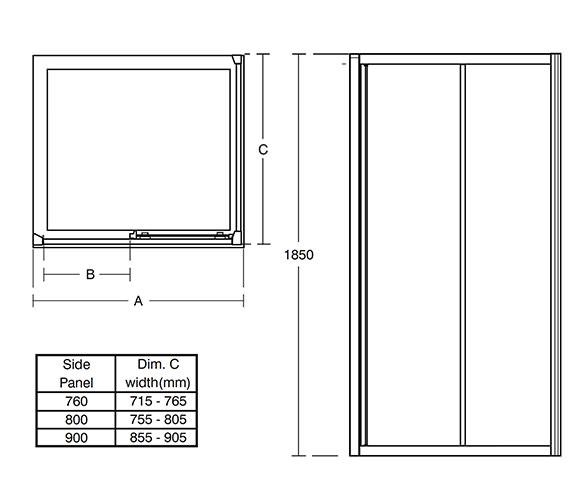 Technical drawing QS-V76851 / L6649VA