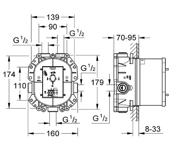 Technical drawing QS-V76922 / 35050000