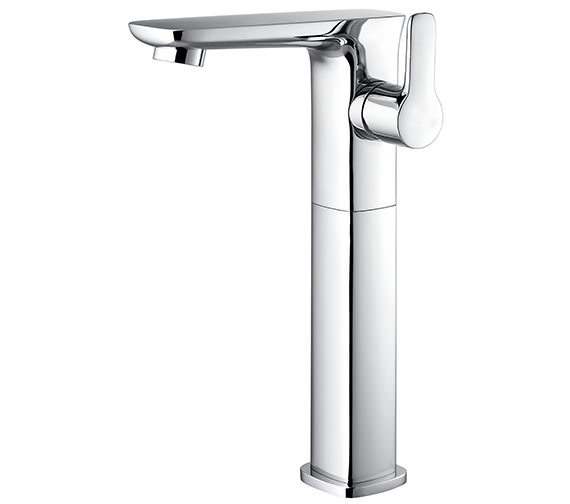 Additional image of Flova Urban Side Lever 100mm High Basin Mixer Tap With Clicker Waste