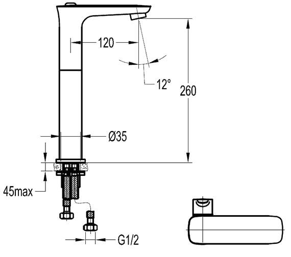 Technical drawing QS-V76957 / URTBAS