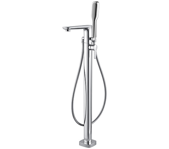 Flova Urban Floor Mounted Bath-Shower Mixer Tap With Handset And Hose