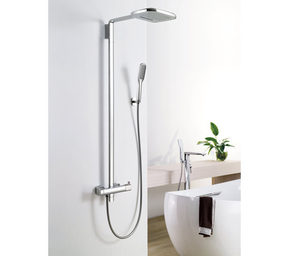 Flova Urban Thermostatic Shower Set With Rainshower-Waterfall Overhead