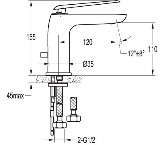 Technical drawing QS-V76972 / ALBAS