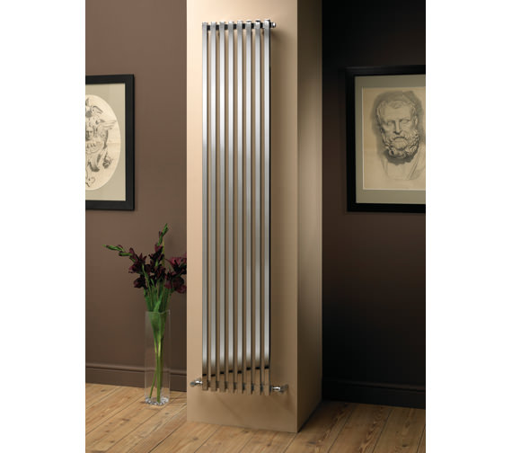 MHS Nubis Single Polished Designer Radiator 810x600mm - NSP 04 1 060081