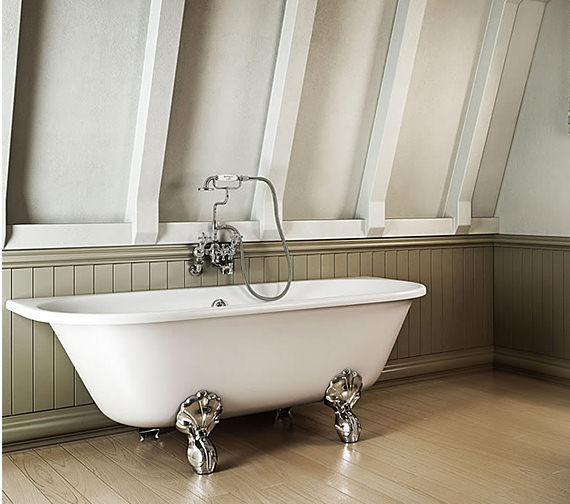 Burlington Avantgarde Back-To-Wall Bath 1700 x 750mm
