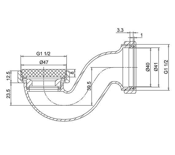 Technical drawing QS-V77498 / CW3