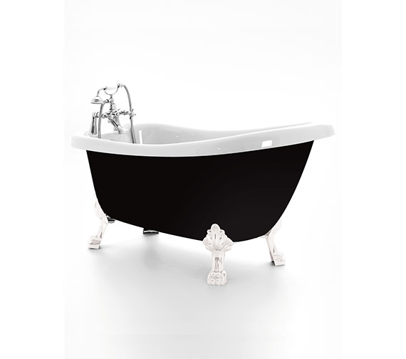 Royce Morgan Crystal Slipper Bath 1680 x 720mm With Chrome Feet
