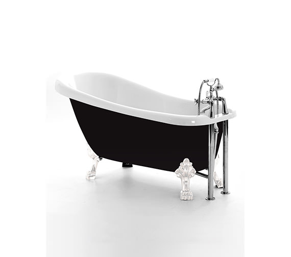 Royce Morgan Chatsworth Slipper Bath 1530 x 710mm With Chrome Feet -White