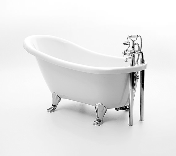 Royce Morgan Eton Slipper Bath 1500 x 730mm With Chrome Feet