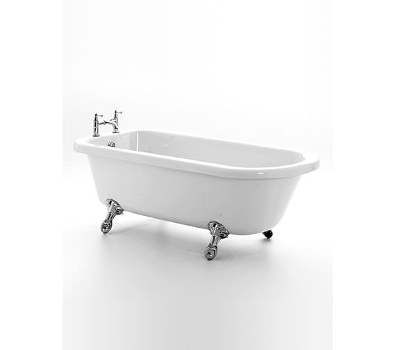 Royce Morgan Lambeth Left Hand Corner Bath 1665 x 715mm With Chrome Feet