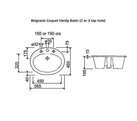Technical drawing QS-V77614 / CQBASIN3WHI