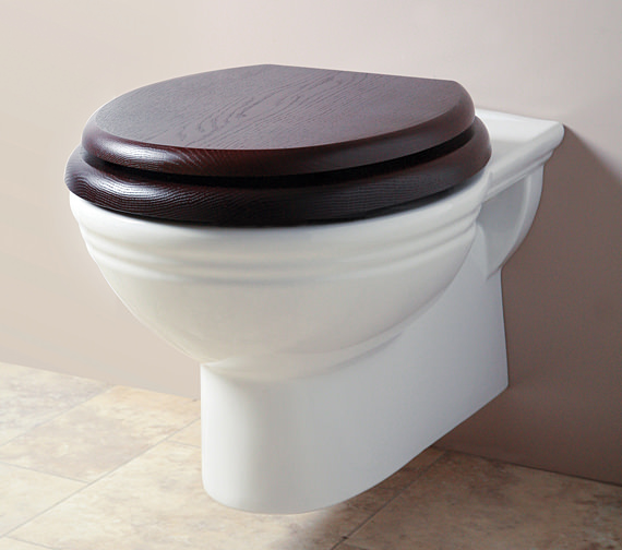 Silverdale Belgravia White Wall Mounted WC Pan
