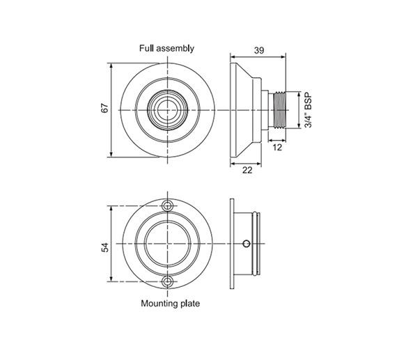 Technical drawing QS-V77661 / UNBMXFIXBT