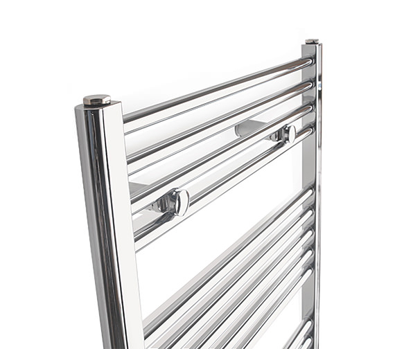 Alternate image of Tivolis Straight Towel Warmer In Chrome Finish - 600 x 1000mm