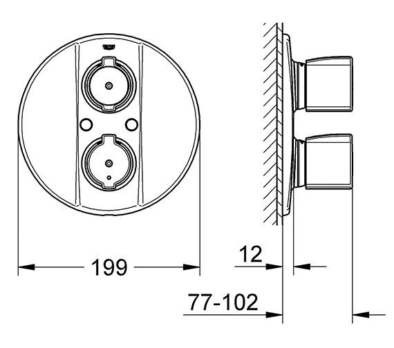 Technical drawing QS-V77892 / 19417000