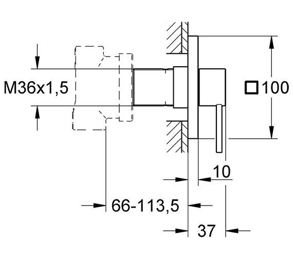 Technical drawing QS-V77897 / 19590000