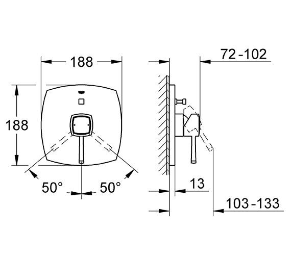 Technical drawing QS-V77902 / 19920000
