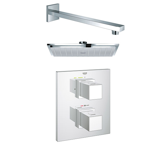 Grohe Grohtherm Cube Plus Rainshower Shower Solution Pack 2 - 118321