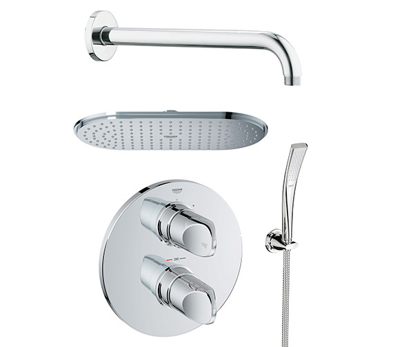 Grohe Spa Veris Plus Rainshower Shower Solution With Handset Pack - 118325