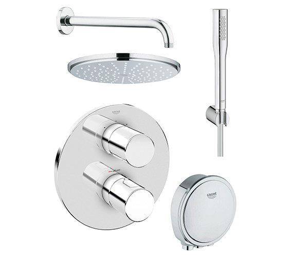 Grohe Grohtherm 3000 Cosmopolitan Bath And Shower Solution Pack 4-118329