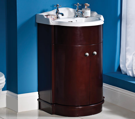 Phoenix Balmoral Round Basin And Solid Wood Base Unit Fg55r