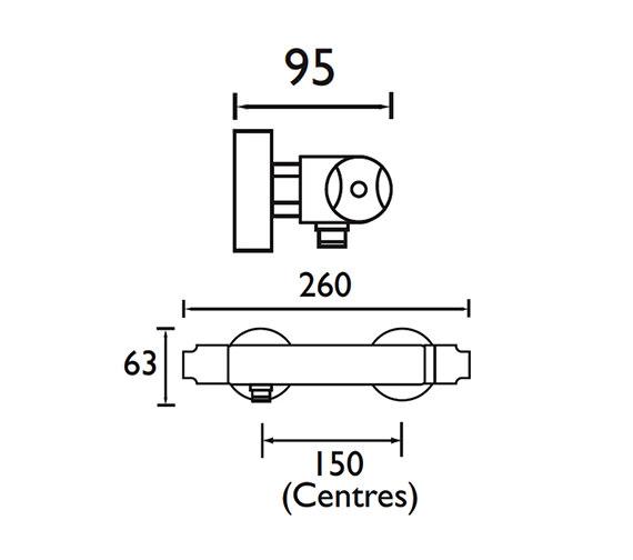 Technical drawing QS-V78166 / AR2 SHXVOFF C