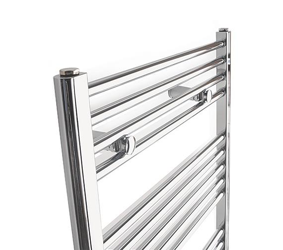 Alternate image of Tivolis Straight Towel Warmer In Chrome Finish - 700 x 1200mm