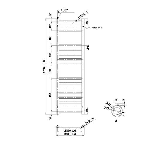 Technical drawing QS-V78364 / RA070