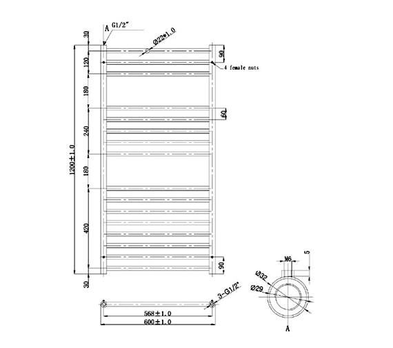 Technical drawing QS-V78375 / RA090