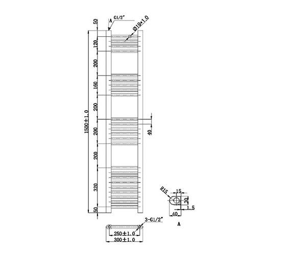 Technical drawing QS-V78380 / RA500