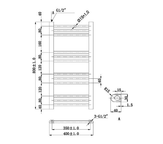 Technical drawing QS-V78392 / RA600