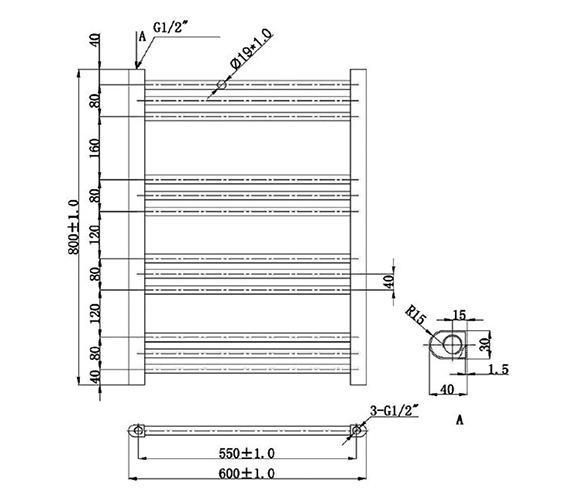 Technical drawing QS-V78410 / RA800