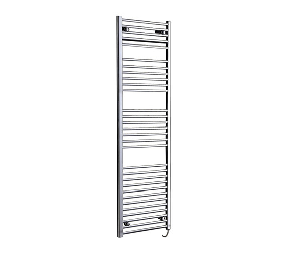 Phoenix Flavia Straight Electric Chrome Towel Rail 600 x 1800mm -EA403
