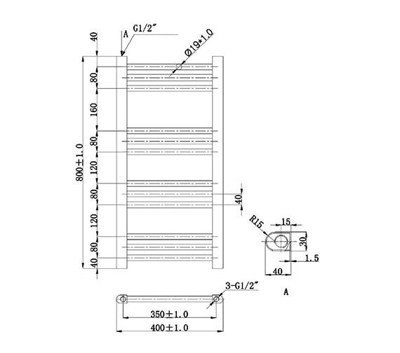 Technical drawing QS-V78434 / EA600