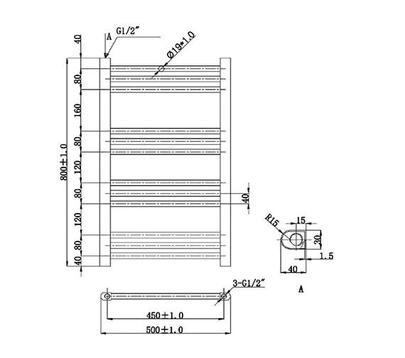 Technical drawing QS-V78438 / EA700
