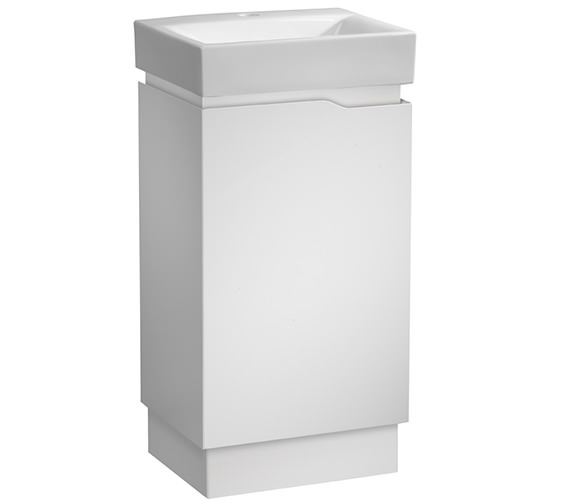 Tavistock Edge 450mm White Freestanding Vanity Unit And Ceramic Basin